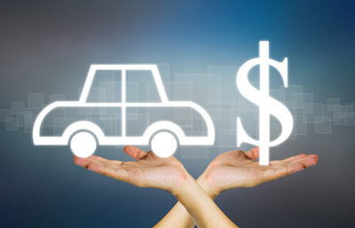 image of car and dollar sign for savings